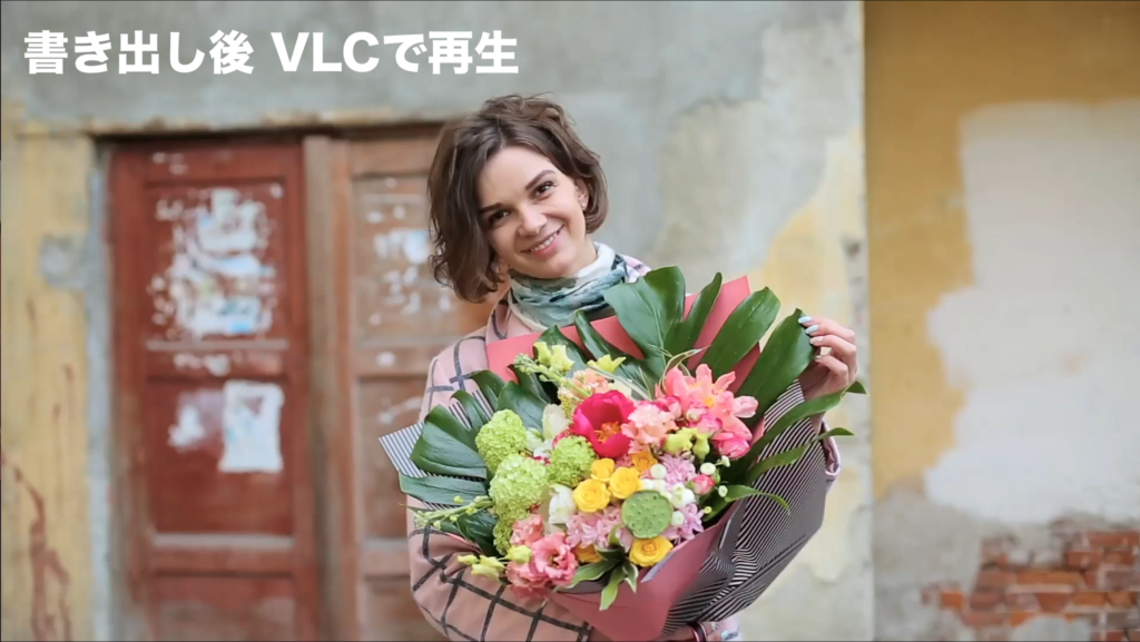 VLCの再生画面