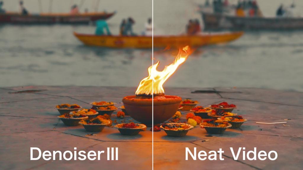 NeatVideoとDenoiserⅢを比較