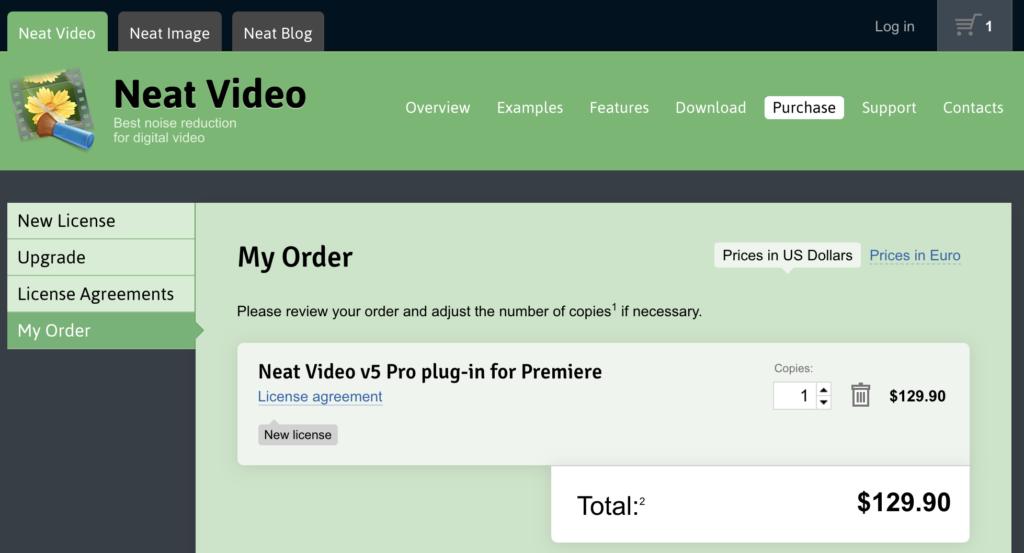 NeatVideo価格